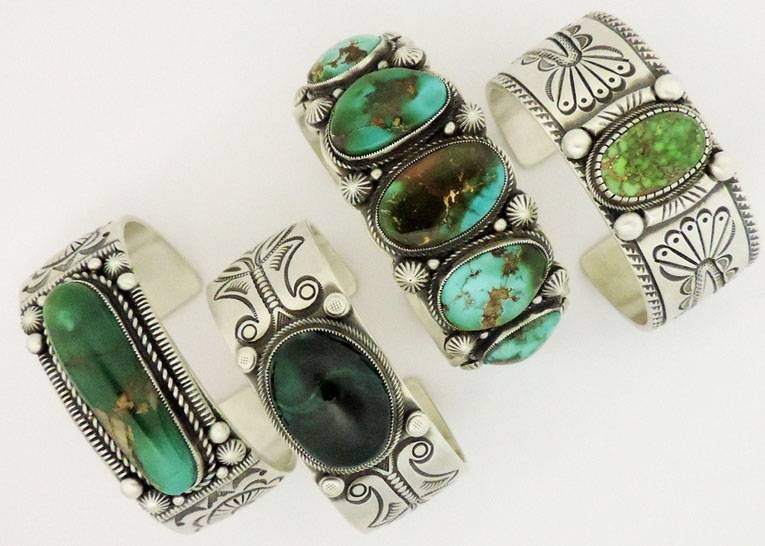 Sterling Silver Turquoise Cuffs and Bracelets